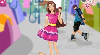 Barbie on Roller Skates | Free online game | Mahee.com
