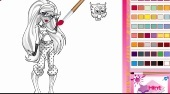 Dibujos Monster High para colorear | (Monster High Coloring ) - El juego | Mahee.es