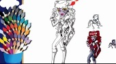 Dibujos Monster High para colorear 2 | (Monster High Coloring 2) - el juego online | Mahee.es