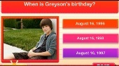 Greyson Chance Quiz - Game | Mahee.com