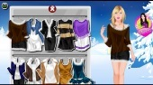 Winter Girl Dressup - online game | Mahee.com