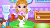 Baby Adopts a Pet - online game | Mahee.com