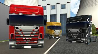 Trucker Parking 3D - online game | Mahee.com