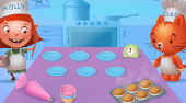 Molly & Cleo: Cupcake Time | Free online game | Mahee.com