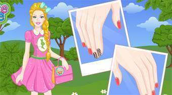 Barbie Easter Nails Designer - online game | Mahee.com