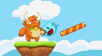 Bouncy and Monsto - online game | Mahee.com
