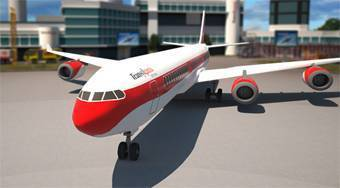 Airplane 3D Parking Simulator - online game | Mahee.com