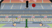 Sport Heads Tennis Open - online game | Mahee.com