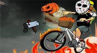 Newspaper Boy Halloween | Free online game | Mahee.com