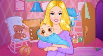 Barbie's DIY Baby Nursery - online game | Mahee.com