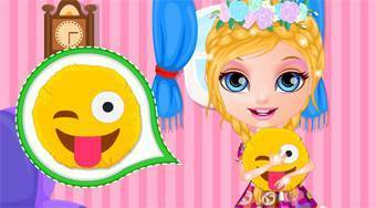 Baby Barbie DIY Emoji Pillow - online game | Mahee.com