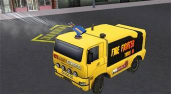 Fire Fighter Rush Truck 3D | Mahee.es