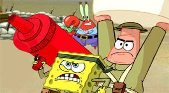 Defend the Krusty Krab - Game | Mahee.com