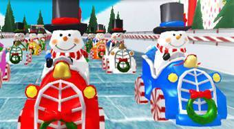 Snowman Christmas Racing - Game | Mahee.com