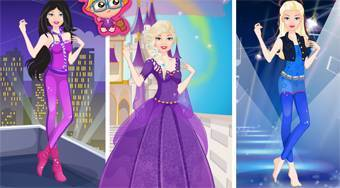 Super Barbie From Princess to Rockstar - online game | Mahee.com
