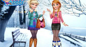 Elsa and Anna Winter Trends - Game | Mahee.com