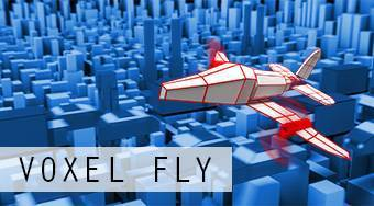 Voxel Fly | Free online game | Mahee.com