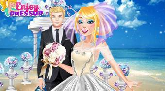 Now and Than Barbie Wedding Day - online game | Mahee.com