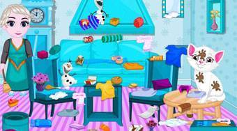 Baby Elsa Kitten Room Cleaning - Game | Mahee.com