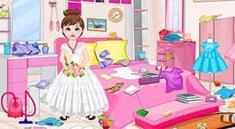 Flower Girl Room Cleaning | Free online game | Mahee.com