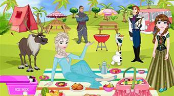 Frozen Family Picnic Decoration - online game | Mahee.com