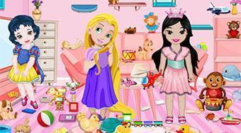Baby Princesses Toys Room Cleaning | Free online game | Mahee.com