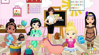 Baby Princesses Play School Decor - online game | Mahee.com
