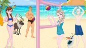 Frozen Beach Volleyball Decoration