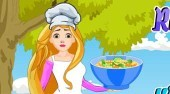 Rapunzel Cooking Winter Fruit Salad