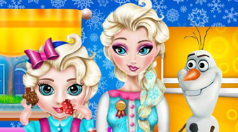 Elsa Baby Caring Slacking | Free online game | Mahee.com