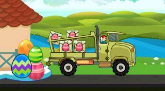 Easter Eggs Transport | Free online game | Mahee.com