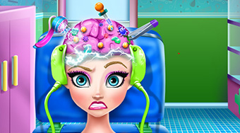 Elsa Brain Doctor - online game | Mahee.com