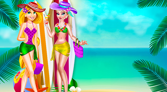 Elsa and Rapunzel Swimsuits Fashion | Free online game | Mahee.com
