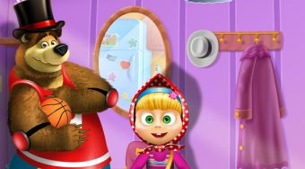 Masha and the Bear Dress Up - jeu en ligne | Mahee.fr