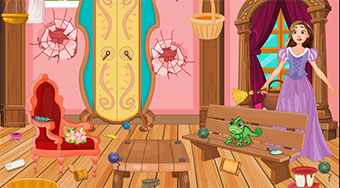 Rapunzel House Cleaning And Makeover | Free online game | Mahee.com