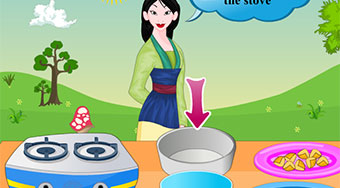 Mulan Cooking Chinese Pie | Free online game | Mahee.com