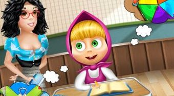 Masha School Adventure - online game | Mahee.com