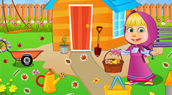 Masha Garden Cleaning - online game | Mahee.com