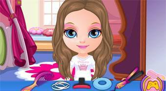 Baby Barbie Disney Hair Salon - online game | Mahee.com