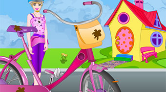 Barbie Bicycle Wash And Repair - Game | Mahee.com