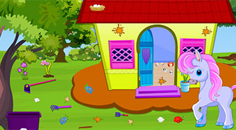Little Pony House Cleaning - online game | Mahee.com