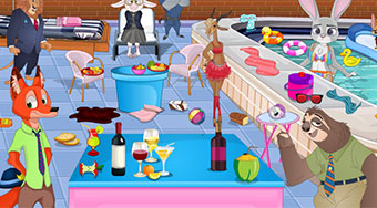 Zootopia Pool Party Cleaning - jeu en ligne | Mahee.fr