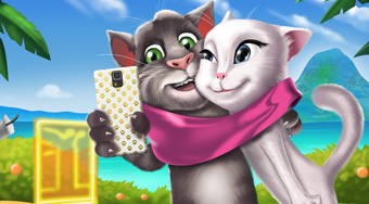 Tom And Angela Selfie Time | Free online game | Mahee.com