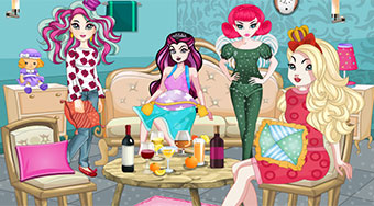 Ever After High Pajama Party - Game | Mahee.com