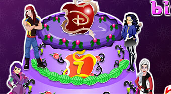 Descendants Birthday Cake | Free online game | Mahee.com