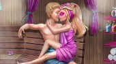 Super Barbie Sauna Flirting