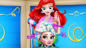 Elsa Braided Hairstyle - online game | Mahee.com