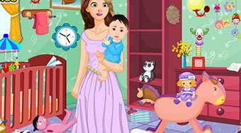 Rapunzel New Baby Room Cleaning - Game | Mahee.com