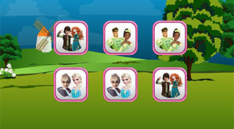 Princess Couples Memory | Free online game | Mahee.com