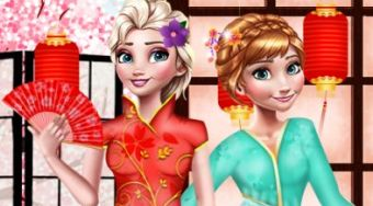 Elsa and Anna Japan Fashion Experience | El juego online gratis | Mahee.es